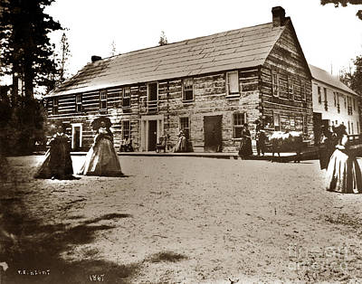 Photograph - The Lake House Lake Tahoe 1867 by California Views Mr Pat Hathaway Archives