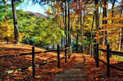 The Lake Path Art Print by Kenny Francis
