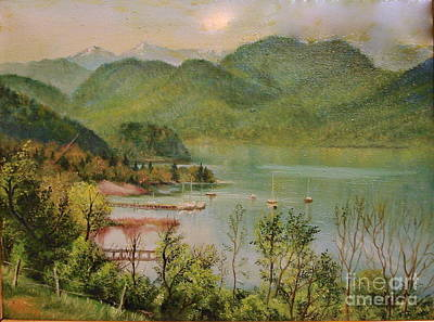 Nature Painting - The Lake by Sorin Apostolescu