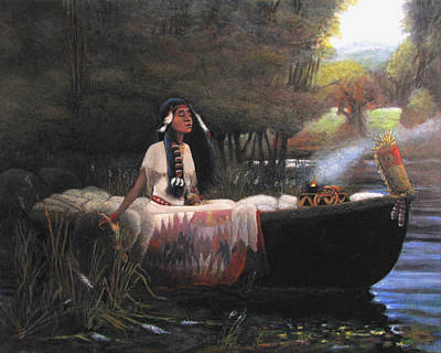Indian Maiden Painting - The Lakota Maiden by Charles Wallis