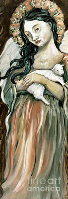 Carrie Painting - The Lamb by Carrie Joy Byrnes