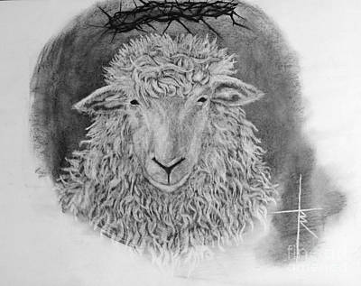 Lamb Of God Drawing - The Lamb Of God by Travis Ricks