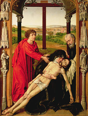 St John The Evangelist Painting - The Lamentation Of Christ by Rogier van der Weyden