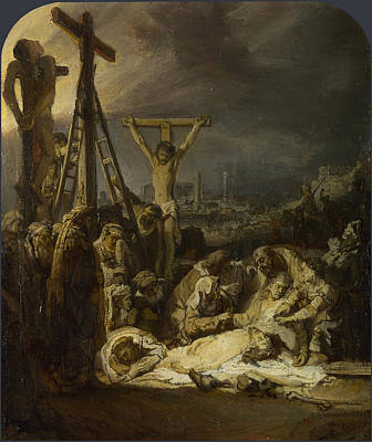 Painting - The Lamentation Over The Dead Christ by Rembrandt