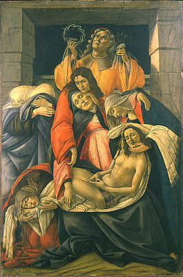 Sandro Botticelli Painting - The Lamentation Over The Dead Christ by Sandro Botticelli