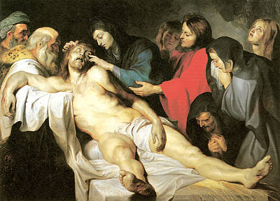Crucifixion Of Jesus Painting - The Lamentation by Peter Paul Rubens