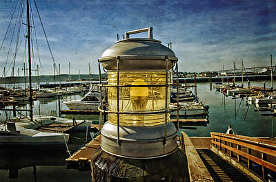 Photograph - The Lamp At Embarcadero  by Thom Zehrfeld