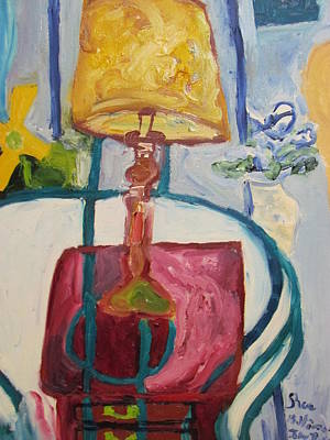 Art Print featuring the painting The Lamp by Shea Holliman