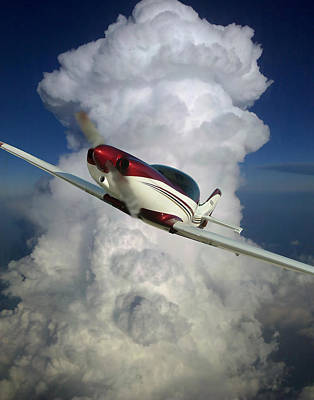 Lancair Photograph - The Lancair by Phil Rispin