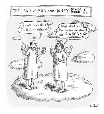 Drawing - The Land Of Milk And Honey: Day 1 by Roz Chast