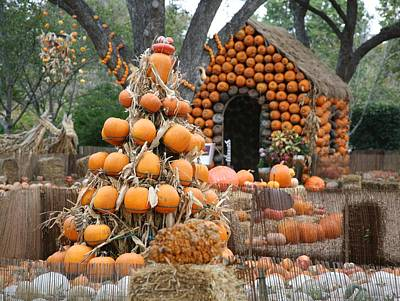 Digital Art - The Land Of Pumpkins by Carrie OBrien Sibley