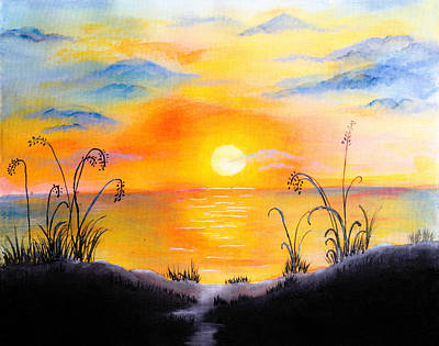 The Land Of The Dying Sun Art Print by Nirdesha Munasinghe