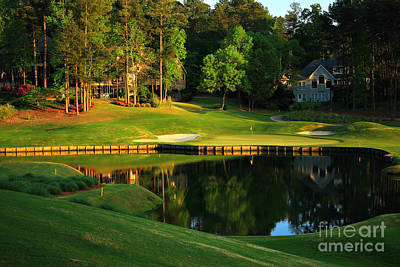 Golf At The Landing #3 In Reynolds Plantation On Lake Oconee Ga Art Print