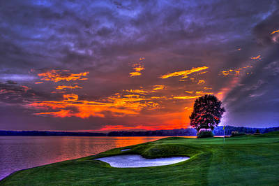 Photograph - The Landing Golf Sunset On Lake Oconee  by Reid Callaway