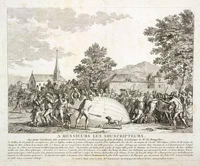 The Landing Of A Balloon Art Print