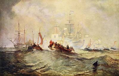 Seascape Drawing - The Landing Of William Of Orange by Joseph Mallord William Turner