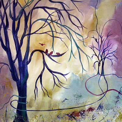 Tree Roots Painting - The Landing Place by Ruth Palmer