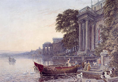 Balustrade Photograph - The Landing Stage by George the Younger Barret