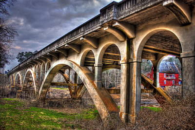 Photograph - Millmore Mill Bridge Shoulderbone Creek Hancock County by Reid Callaway