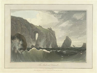 The Lands End In Cornwall Art Print by British Library