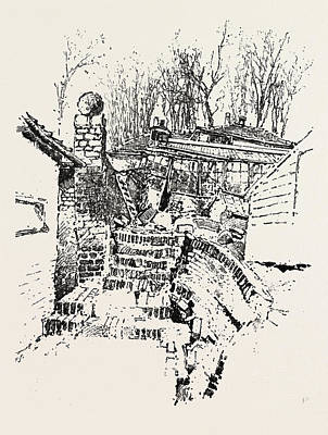 The Landslip At Sandgate Destruction Of Prospect Nurseries Art Print