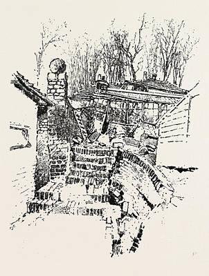 The Landslip At Sandgate Destruction Of Prospect Nurseries Print by English School