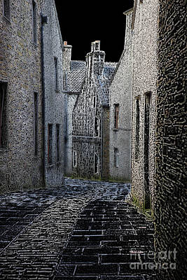 Townscape Digital Art - The Lane by Lynne Sutherland