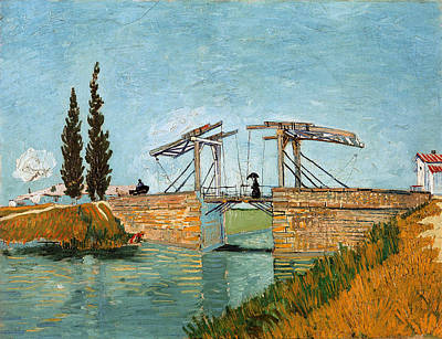Painting - The Langlois Bridge At Arles by Celestial Images