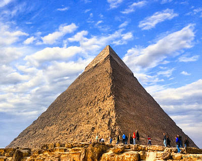 Photograph - The Last Ancient Wonder - Egyptian Pyramid by Mark E Tisdale