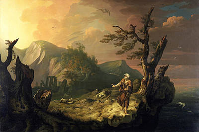 Painting - The Last Bard by Thomas Jones