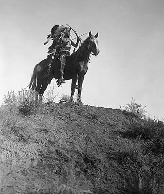 Indian Pony Photograph - The Last Battle - 1908 by Daniel Hagerman