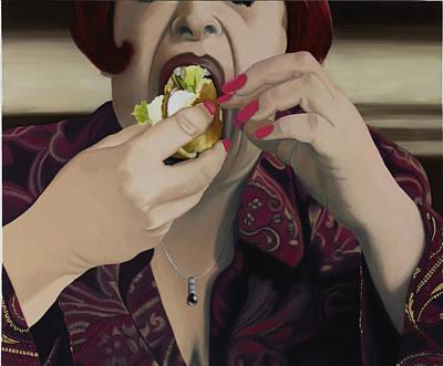 Hamburger Painting - The Last Bite by Marcella Lassen
