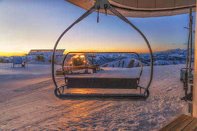 Snow Cat Photograph - The Last Chair by Ryan Moyer