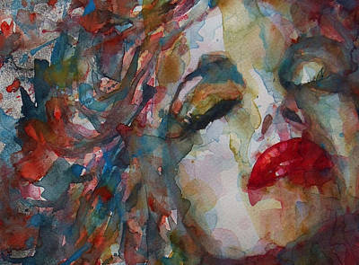Lips Painting - The Last Chapter by Paul Lovering