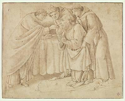 The Last Communion Of Saint Jerome Print by Workshop of Botticelli