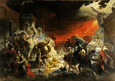 Pompeii Painting - The Last Day Of Pompeii by Karl Bryullov