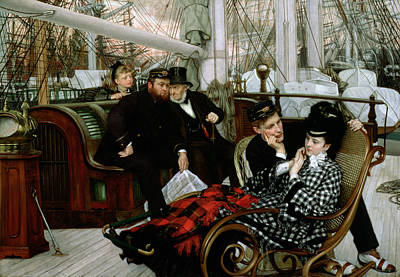 Rocking Chairs Photograph - The Last Evening, 1873 Oil On Canvas by James Jacques Joseph Tissot