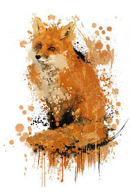 Fox Digital Art - The Last Fox by Victor  Castillo