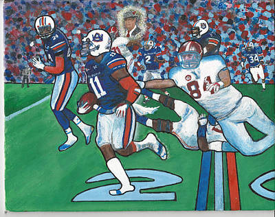 The Last Grasp Alabama Auburn Iron Bowl 2013 Add Nostalgia  Original by Ricardo Of Charleston