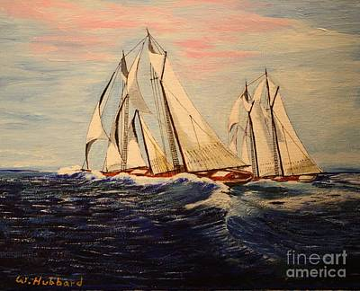 Painting - The Last Great Int'l. Fisherman's Race by Bill Hubbard