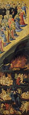 The Last Judgement Painting - The Last Judgement - Right Wing by Fra Angelico