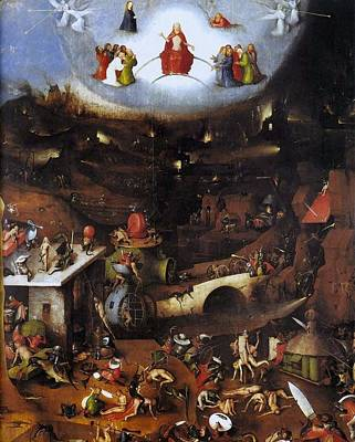 The Last Judgment - Central Panel Art Print by Hieronymus Bosch