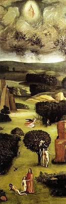 Left-wing Painting - The Last Judgment - Left Wing - Paradise by Hieronymus Bosch