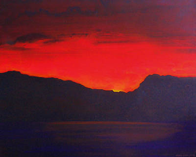 Painting - The Last Light 2012 by Karl Leonhardtsberger