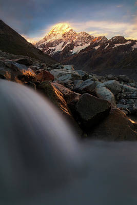 New Zealand Photograph - The Last Light by Yan Zhang