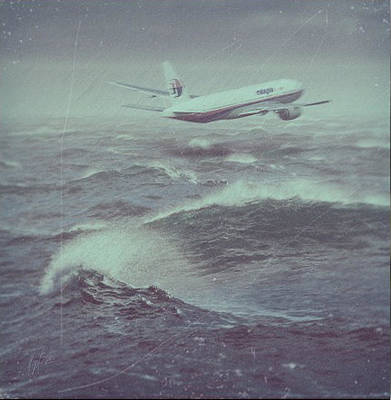 Painting - The Last Moments Of Mh 370 by Nop Briex