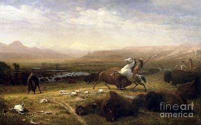Painting - The Last Of The Buffalo by Roberto Prusso