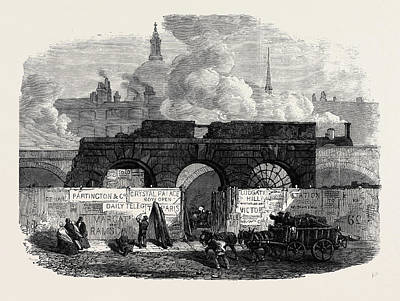 Indoor Drawing - The Last Of The Old Fleet Prison 1868 by English School