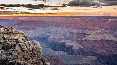 Photograph - The Last Of The Red Sunlight In Grand Canyon by Pierre Leclerc Photography