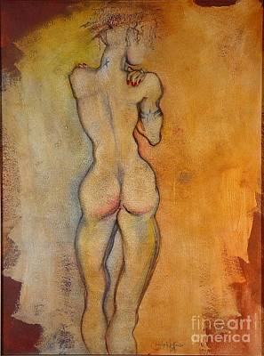Nude Woman Torso Painting - The Last Of The Three Wise Men by Carolyn Weltman
